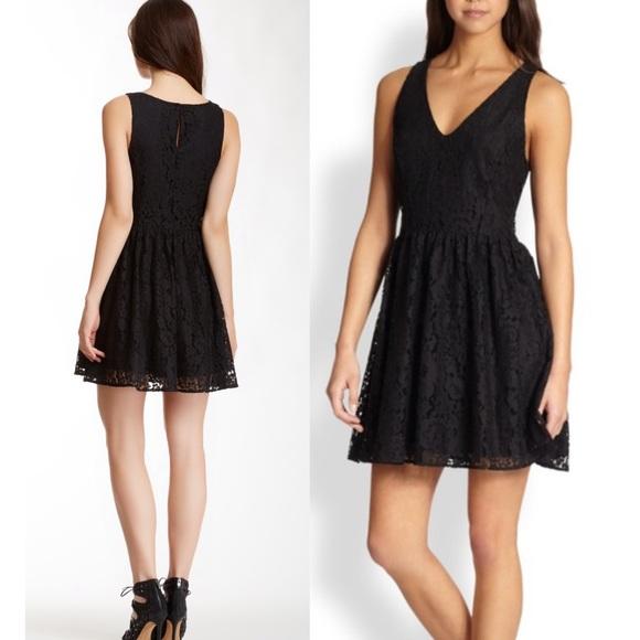 Joie Dresses & Skirts - Joie phelia lace skater mini dress in caviar
